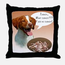 Brittany Turkey Throw Pillow