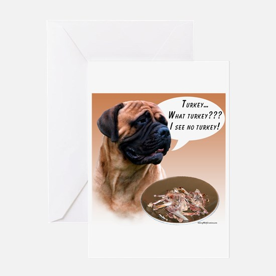 Bullmastiff Turkey Greeting Card