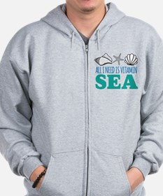 All I need is Vitamin Sea Zip Hoodie