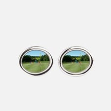 Unique Retirement golf Oval Cufflinks