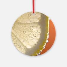 Bubbly Lemon - Orange Round Ornament