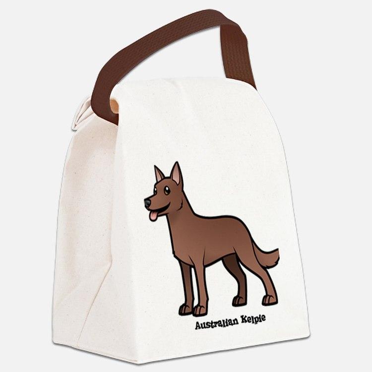 Cute Kelpie Canvas Lunch Bag