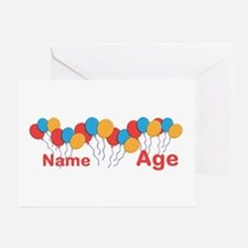 CUSTOMIZE NAME and AGE Birthday Greeting Cards