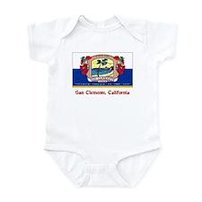 San Clemente CA Flag Infant Bodysuit
