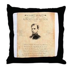 Wanted Robert Allison Throw Pillow