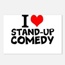 I Love Stand-up Comedy Postcards (Package of 8)