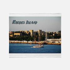 Rhodes Island Greece Travel Throw Blanket