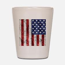Grunge American Flag Shot Glass