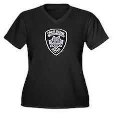 CSI Las Vegas Women's Plus Size V-Neck Dark T-Shir