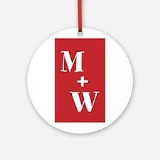 Monogram Plus Monogram Round Ornament