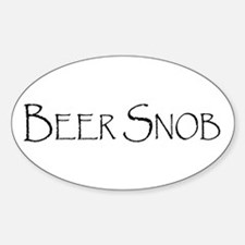 Beer Snob Oval Decal