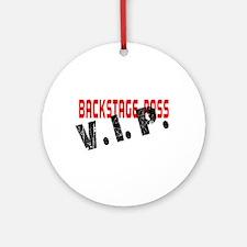 VIP BackStage Pass Round Ornament