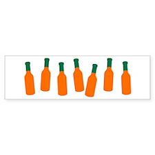 Bottles of Hot Sauce Bumper Bumper Sticker