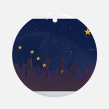 Alaska State Flag with Audience Round Ornament
