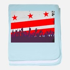 Washington DC Flag with Audience baby blanket