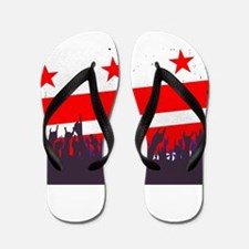 Washington DC Flag with Audience Flip Flops