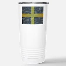 Silk Flag of Saint Davi Stainless Steel Travel Mug