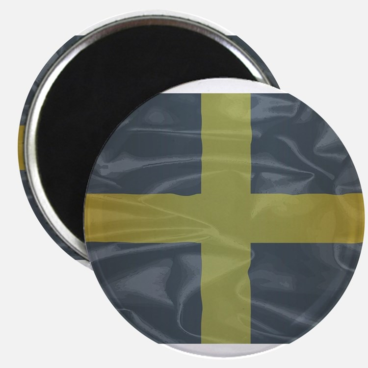Silk Flag of Saint David Of Wales Magnets
