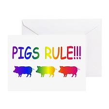 Pigs Rule Greeting Card