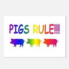 Pigs Rule Postcards (Package of 8)