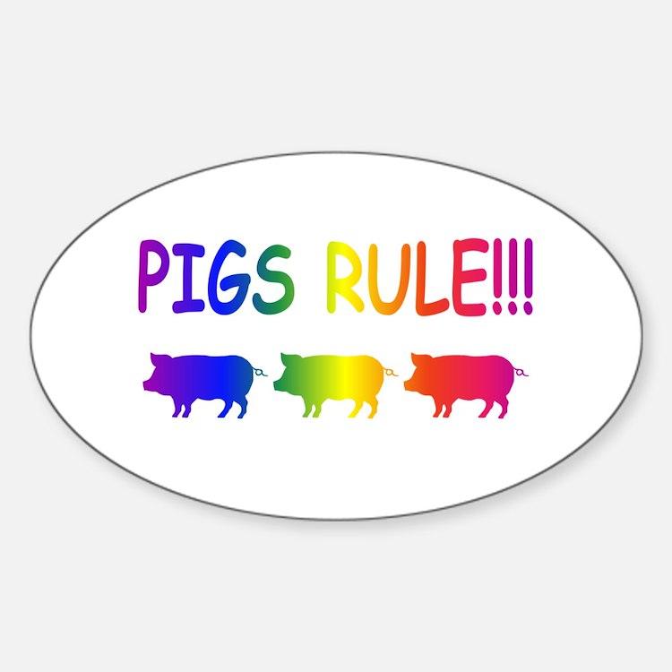 Pigs Rule Decal