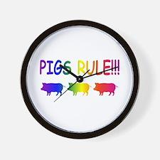 Pigs Rule Wall Clock