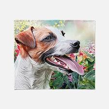 Jack Russell Terrier Painting Throw Blanket