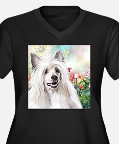 Chinese Crested Painting Plus Size T-Shirt