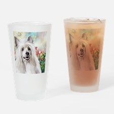 Chinese Crested Painting Drinking Glass