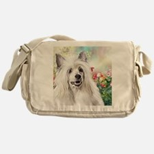 Chinese Crested Painting Messenger Bag
