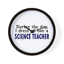 Dress Up Like A Science Teacher Wall Clock