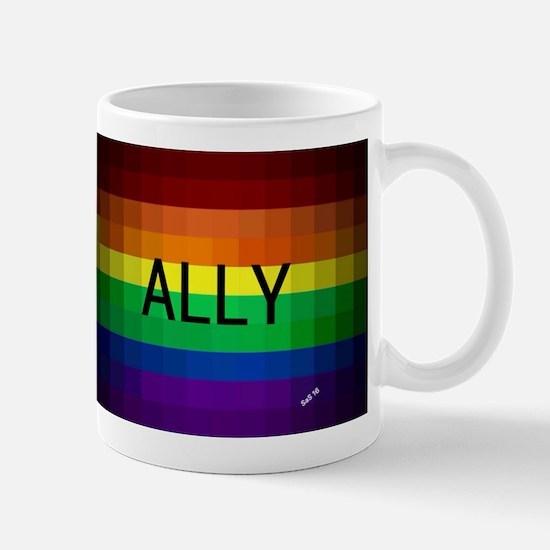Ally gay rainbow art Mugs