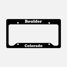 Boulder CO License Plate Holder