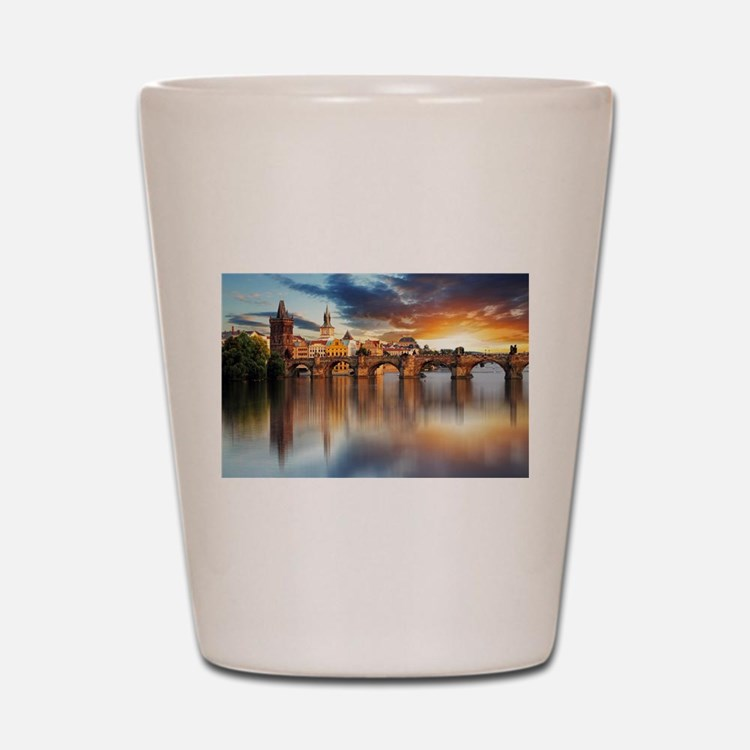 Charles Bridge Prague Shot Glass