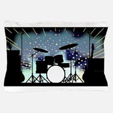 Bright Rock Band Stage Pillow Case