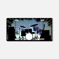 Bright Rock Band Stage Aluminum License Plate