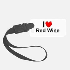 Red Wine Luggage Tag