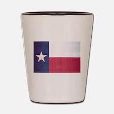Texas State Doted Flag Shot Glass