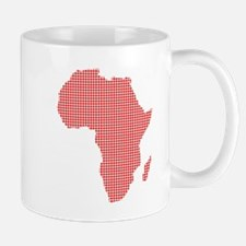 African Dot Map Mugs