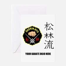 Personalized Shorin Ryu Patch & Kanj Greeting Card