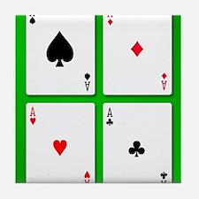 The Four Aces Tile Coaster