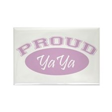 Proud YaYa (pink) Rectangle Magnet