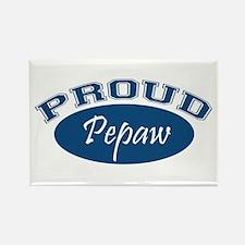 Proud Pepaw (blue) Rectangle Magnet