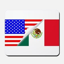 United States and Mexico Flags Combined Mousepad