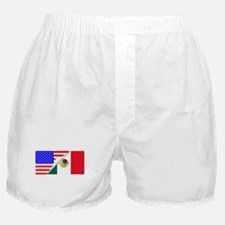 United States and Mexico Flags Combin Boxer Shorts