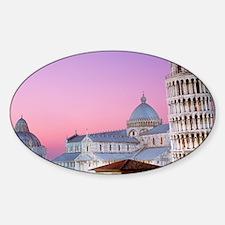 Cute Pisa Sticker (Oval)