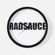 Rad Sauce - Black Wall Clock