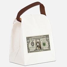 Pit Bull Money Canvas Lunch Bag