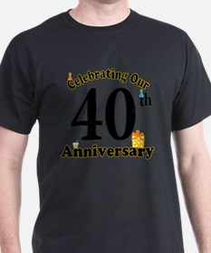 40th Anniversary Party Gif T-Shirt