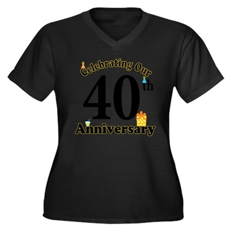 40th Anniversary Party Gift Plus Size T-Shirt